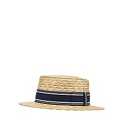 Hammond & Co. by Patrick Grant - Natural straw boater hat