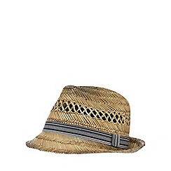 Mantaray - Natural straw trilby hat