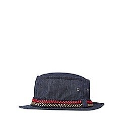 Mantaray - Blue denim pork pie hat