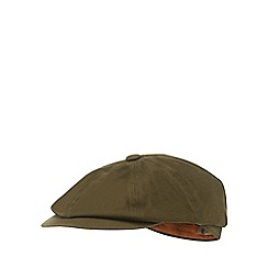 Mantaray - Khaki cotton baker boy hat