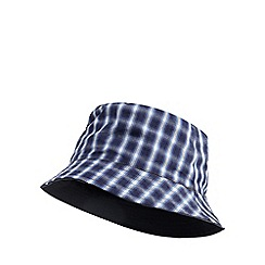 Mantaray - Blue checked reversible bucket hat