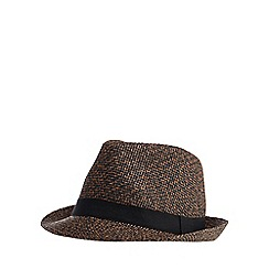 Red Herring - Brown trilby hat
