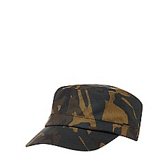 Red Herring - Multicoloured camouflage print water-resistant train driver hat