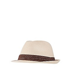 The Collection - Natural linen blend trilby hat