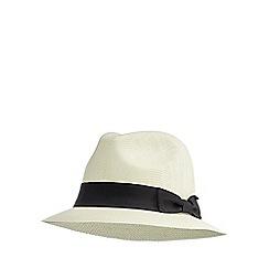 Osborne - Natural straw trilby hat