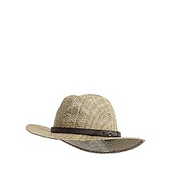 Osborne - Natural sea grass fedora hat