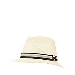 J by Jasper Conran - Cream striped band trilby hat