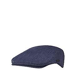 J by Jasper Conran - Navy textured linen flat cap