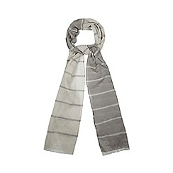 Red Herring - Natural striped scarf