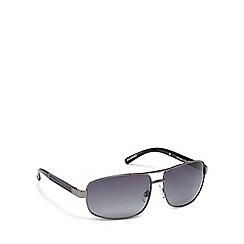 Mantaray - Grey metal rectangle sunglasses