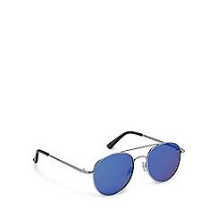 Red Herring - Silver metal pilot sunglasses