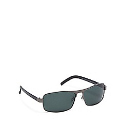 Mantaray - Grey metal rectangular sunglasses