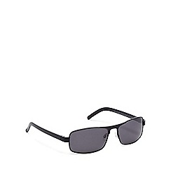 Mantaray - Black metal rectangular sunglasses