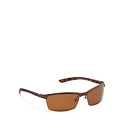 Mantaray - Brown metal rectangular sunglasses