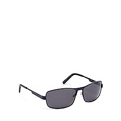 Mantaray - Grey metal rectangular sunglasses