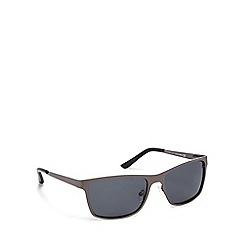 Mantaray - Navy metal rectangular sunglasses