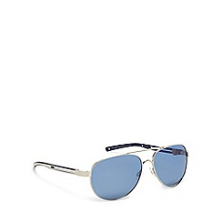 Mantaray - Silver metal pilot sunglasses
