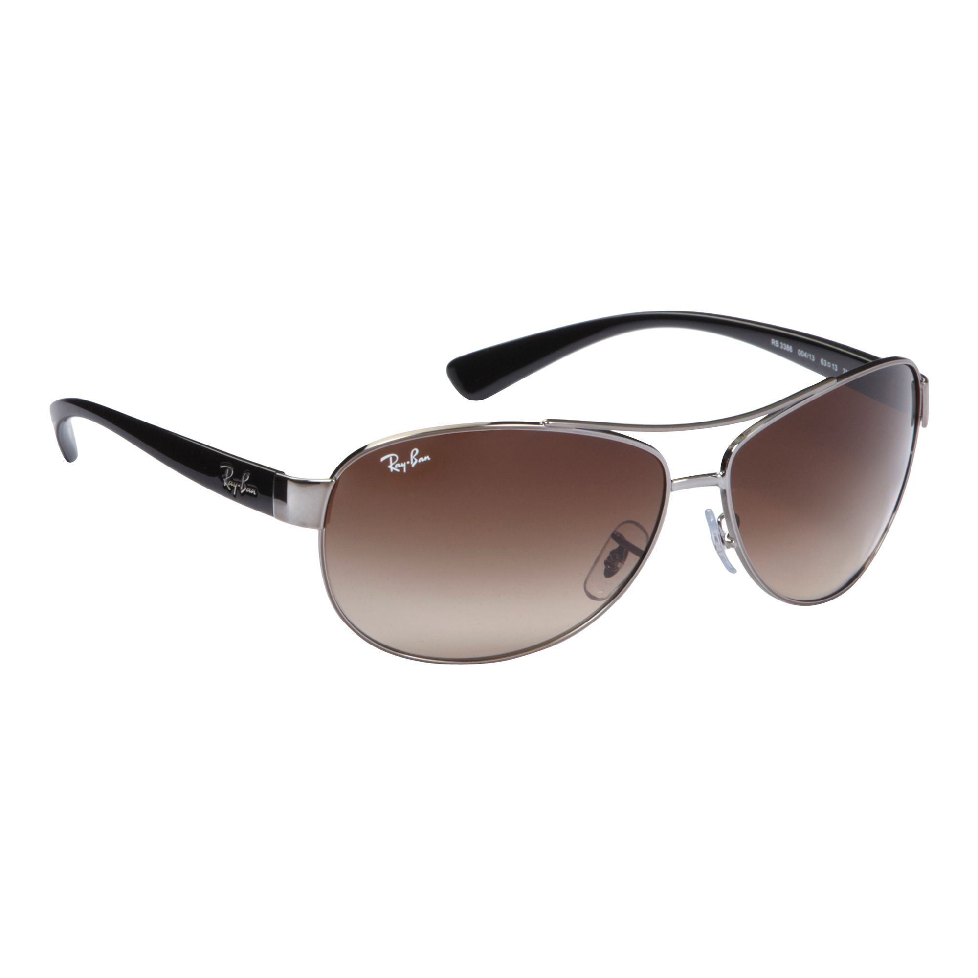 6348d722c1 Details about Ray-Ban Rb3386 Curved Aviator Gunmetal Sunglasses