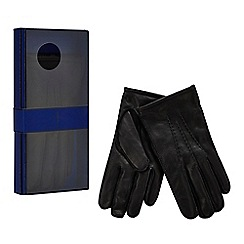 J by Jasper Conran - Black leather gloves in a gift box