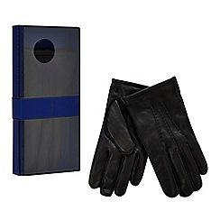 J by Jasper Conran - Black leather gloves