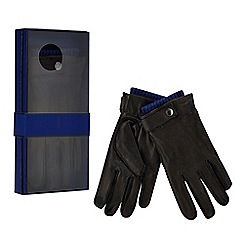 J by Jasper Conran - Black leather gloves