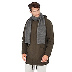 J by Jasper Conran - Grey cashmere scarf and gloves