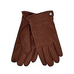 Hammond & Co. by Patrick Grant - Tan panelled leather touch screen gloves in a gift box