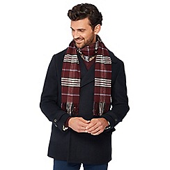 Hammond & Co. by Patrick Grant - Wine checked scarf in a gift box
