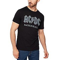 Debenhams - Black 'ac dc' print t-shirt