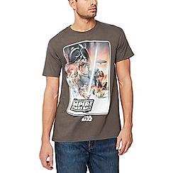 Debenhams - Grey 'Star Wars: The empire strikes back' t-shirt