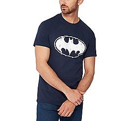 Debenhams - Navy 'batman'' print t-shirt