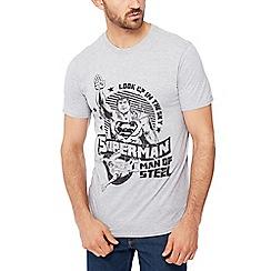 Debenhams - Grey 'superman' print t-shirt