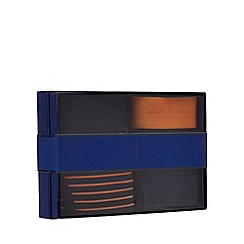 J by Jasper Conran - 2 pack navy plain and striped keyhole trunks in a gift box