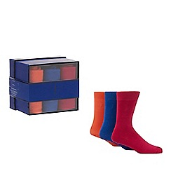 J by Jasper Conran - 3 pack assorted socks in a gift box