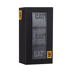 Caterpillar - 3 pack grey boot socks in a gift box