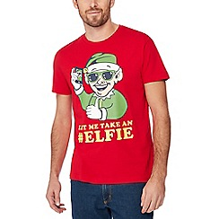 Red Herring - Red 'Elfie' print t-shirt