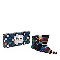 Happy Socks - 4 pack multicoloured patterned socks in a gift box
