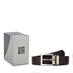 The Collection - Brown leather belt in a gift box
