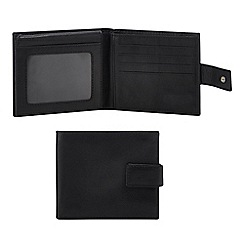 The Collection - Black leather wallet in a gift box