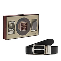 Hammond & Co. by Patrick Grant - Reversible leather belt with two buckles in a gift box