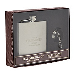 Hammond & Co. by Patrick Grant - Stainless Steel Hip Flask and Funnel in a gift box