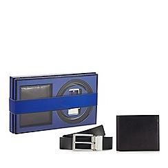 J by Jasper Conran - Black leather wallet and belt set