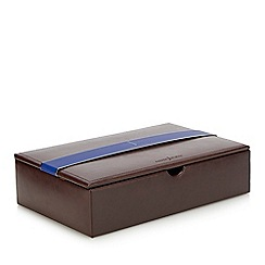 J by Jasper Conran - Brown leather watch box in a gift box