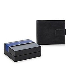J by Jasper Conran - Black leather bi-fold wallet and coin tray in a gift box