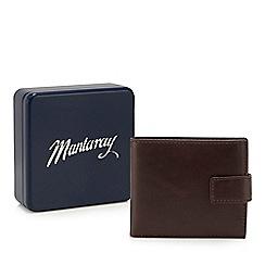 Mantaray - Brown leather billfold wallet