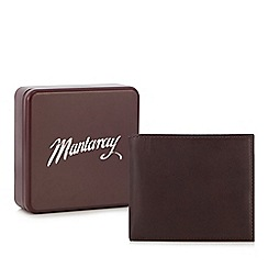 Mantaray - Brown leather billfold wallet in a gift box