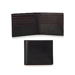 Loake - Black leather billfold wallet