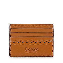 Loake - Tan leather punched credit card holder