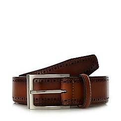 Loake - Tan punched leather belt