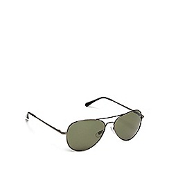 The Collection - Grey aviator sunglasses